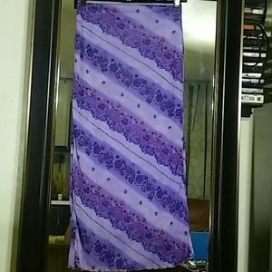 Xhilaration skirt purple with floral pattern